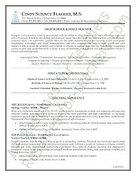 Best Teaching Resumes by Science Teacher Resume Berathen Com