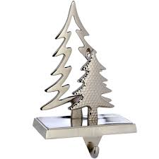 silver plated christmas tree stocking holder decoration metal 19