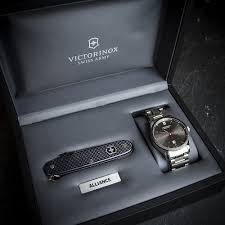 victorinox alliance mechanical watch u0026 swiss army knife set