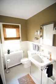 black u0026 tan bathroom with bamboo shades sherwin williams