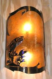 Wall Sconce Lamp Shades Trout Fishing Mica Wall Sconce Light Lamp Shade Pro