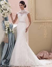 Wedding Dress Murah Online Get Cheap Mermaid Lace High Neck Sweep Wedding Dresses