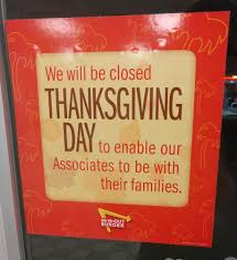 we will be closed on thanksgiving day in n out burger double double animal style burger with well done