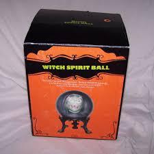 distortions halloween props gemmy spirit ball witch fortune teller talking head halloween prop