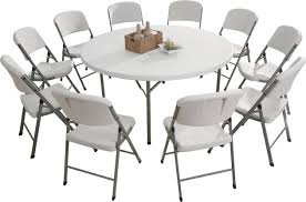 plastic round table and chairs china selling 180cm plastic round folding table dining table