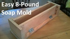 how to build an easy 8 pound soap mold for soapmaking youtube