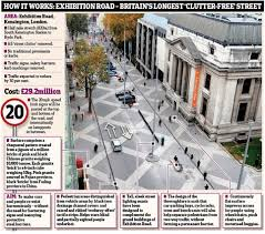 britain s longest clutter free street is unveiled to make things how it works exhibition road