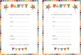 invitation cards for birthday party printable choice image