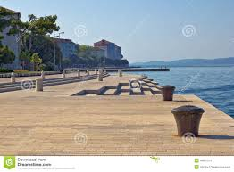 sea organ croatia zadar waterfront famous sea organs landmark stock photo image
