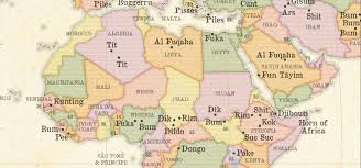 Map Of North Africa And Middle East by A Map Of The Rudest Place Names In The World Indy100