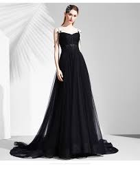evening dresses for weddings black corset spaghetti sleeve black glittering gown