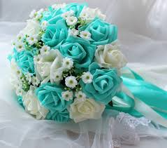 turquoise flowers turquoise green white wedding bouquet turquoise flowers