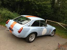 gulf car mgb gt sebring stunning car in period gulf race colours mot 2014