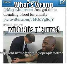 Create My Own Meme With My Own Picture - magic johnson causes an uproar by donating blood 皓 create my own