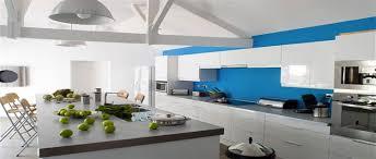 cuisine blanche et bleue la cuisine blanche le des cuisines