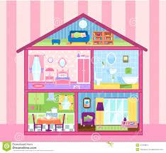girls doll house stock illustration image 47249651