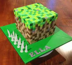 minecraft cake ideas cakepins com bushra pinterest