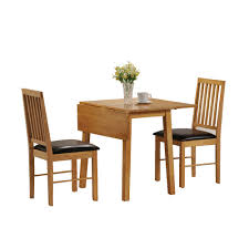 Oak Dining Room Table Sets Dining Table And 2 Chairs Set 2 Seater Drop Leaf Set Small