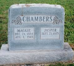 chambers family cemetery stones