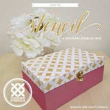 jewelry box favors how to stencil a wooden jewelry box stencil stories