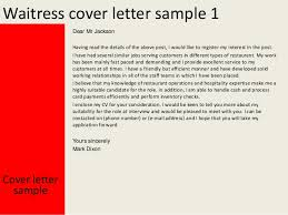 unique cover letter for waitressing job 83 in examples of cover