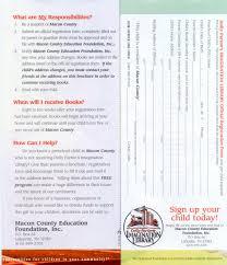 imagination library brochure macon county education foundation inc