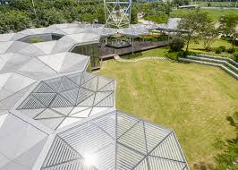 eye catching hex sys buildings go up in a snap no glue or
