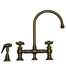 Antique Brass Kitchen Faucet Antique Brass Kitchen Faucet For Vintage Iii 2 Handle Side Sprayer