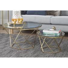 side table set of 2 vintage glass coffee table set furniture living room metal side