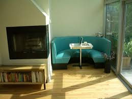 kitchen banquette bench dining room contemporary with blue table