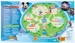 magic kingdom disney map walt disney maps for