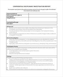 9 investigation report templates free sample example format