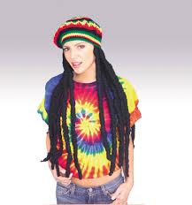 Hippie Halloween Costumes Kids Rasta Wig Cap Dreadlocks U0026 Braids Halloween Costumes 2017