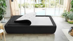 Schlafzimmer Mit Polsterbett Kim Bett Schlafzimmer Schwarz Weiß Mit Wendetopper 140