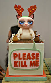 Halloween Cat Cake by 25 Best Grumpy Cat Cakes Ideas On Pinterest Paw Print Cakes