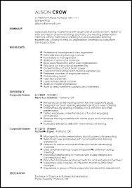 corporate resume template free creative corporate trainer resume template resumenow