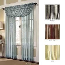 Sheer Gold Curtains Sheer Curtains With Scarf Valance Gold Curtain Image 1 U2013 Muarju