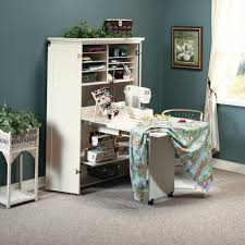 Sauder Harbor View Computer Desk With Hutch Antiqued White by Harbor View Craft Armoire 158097 Sauder
