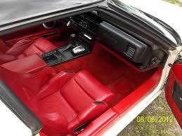 1986 Corvette Interior Parts Find Used 1986 Corvette White Exterior Red Leather Interior 4x3