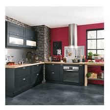 meuble de cuisine gris anthracite cuisine gris perle et anthracite idées de décoration capreol us