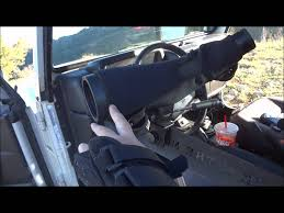 spotting scope window mount how to use a spotting scope from your jeep utv or side by side