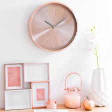 horloge chambre bébé horloge en métal d 36 cm lulea copper maisons du monde chambre