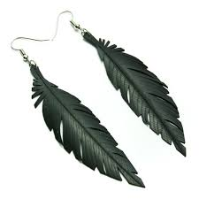 black feather earrings bike earrings birds of a feather tread pedals
