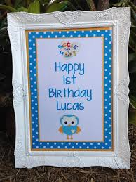 Giggle And Hoot Decorations Personalised Giggle And U0026 Hoot Inspired Birthday Party Sign Print