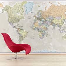 world map mural wall murals giant clic world map mural by maps international
