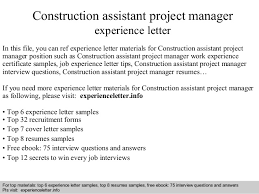 resume construction experience construction project manager job description sample click here to