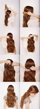 step by step hairstyles for long hair with bangs and curls super easy step by step hairstyle ideas fashionsy com