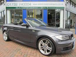 used bmw 1 series convertible used bmw 1 series 2008 diesel 120d m sport convertible grey manual
