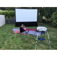 Backyard Projector Screen by Portable Projector Screen Indoor Outdoor Screens At Visualapex