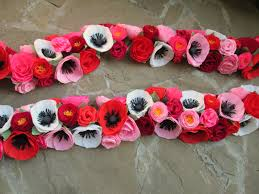 Poppy Home Decor by Paper Flower Garland Paper Flowers Wedding Arch Garland Table